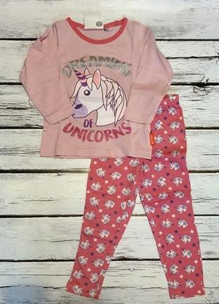 Костюм комплект кофта реглан лонгслив + штаны пижама піжама единорог дисней