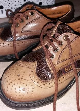Кожаные туфли ellos школьные туфли для мальчиков