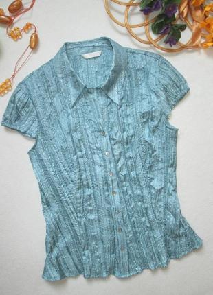 Суперовая лёгкая блуза жатка на пуговицах с блестящей нитью marks & spencer