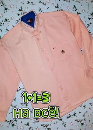 🎁1+1=3 модная плотная рубашка сорочка tommy hilfiger оригинал, размер 46 - 48