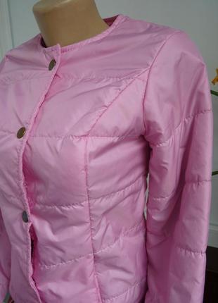 Легкая весенняя нежно-розовая куртка китай