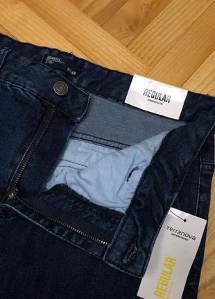 Regular fit джинси у синьому кольорі terranova