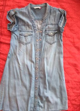 Супер платье-рубашка джинсовое.