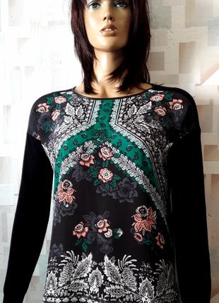Красивая блуза джемпер в орнамент с вырезом на спинке от oasis