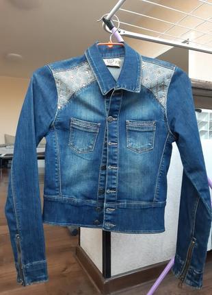 Джинсовка,джинсовая куртка, пиджак, жакет, куртка2 фото