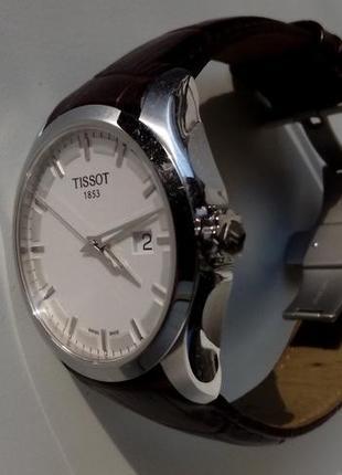 Часы tissot t035.410.16.031.00 оригинал кварц сталь ремешок кожа