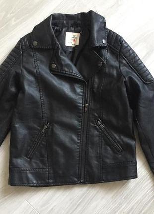 Кожаная куртка косуха на девочку zara
