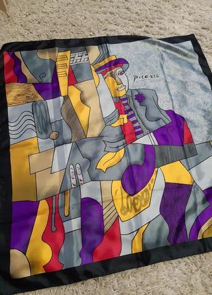 Шикарный платок ,picasso, 85*87