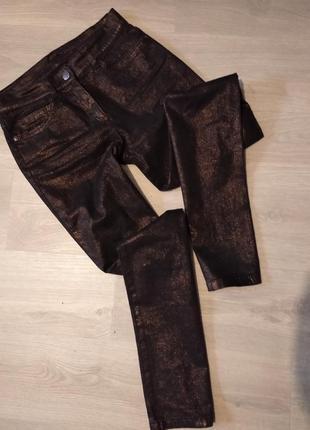 Брендовые брюки с напылением brax
