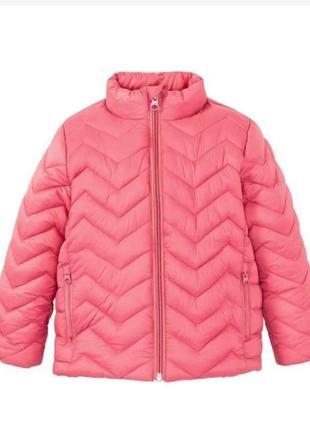 Розовая термо куртка для девочки 104 lupilu