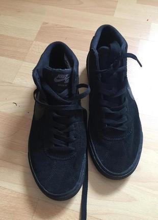 Замшевые кеды ботинки nike