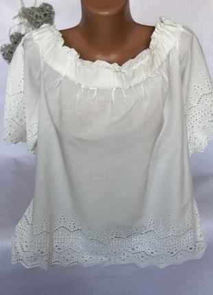 Шикарная воздушная блуза без плечей h&m