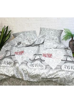 Постельное белье тм вилюта ранфорс,100% хлопок, качество, рис. 9432 париж