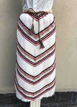 Тонкая,шерстяная юбка а-силуэт,этно,бохо,деревенский стиль, united colors of benetton