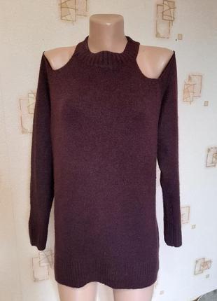 Пасхальные скидки!!!новая коллекция!удлиненный свитер с открытыми плечами