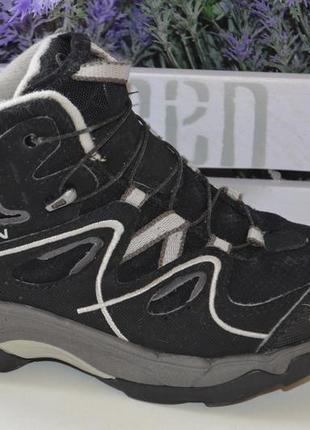 Фирменные ботинки salomon waterproof оригинал р. 31 по стельке 20 см