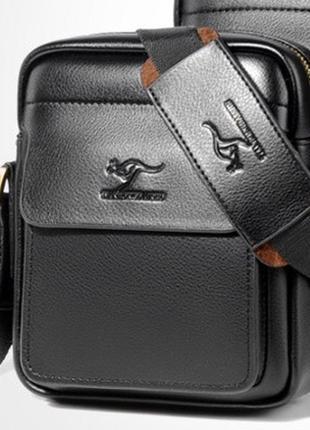 Небольшая мужская сумка-барсетка kangaroo через плечо. кс5