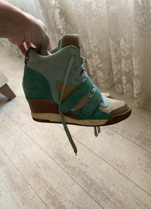Замшевые ботиночки сникерсы замш