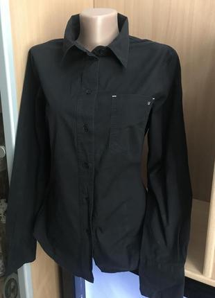 Молодежная черная катоновая рубашка