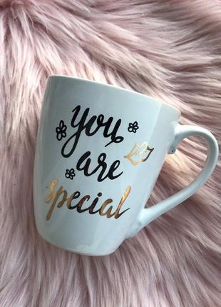"""Чашка керамическая """"you are special""""объем 550мл, белая, подарочная чашка, кружка"""