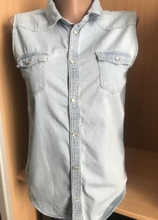Молодежная джинсовая безрукавка h$m