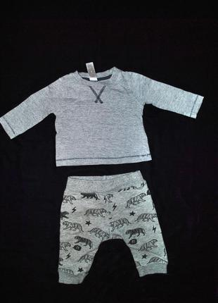 Комплект лот одежды для мальчика baby кофта 3-6 мес штаны крутые