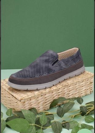 Мужские туфли с перфорацией летние модные красивые