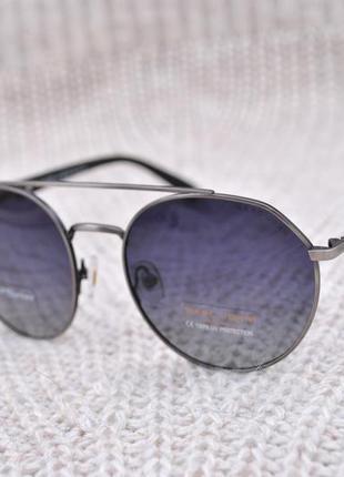 Фирменные солнцезащитные круглые очки marc john polarized unisex mj0787