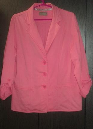 Яркий стильный пиджак жакет canda premium, размер 48/52.