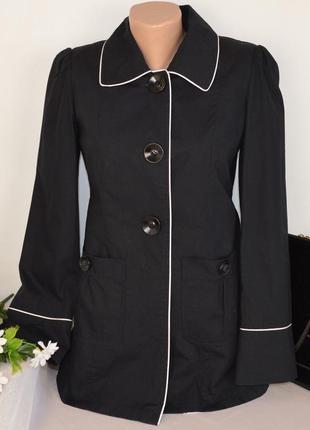 Брендовый черный коттоновый плащ тренч с карманами dorothy perkins вьетнам этикетка