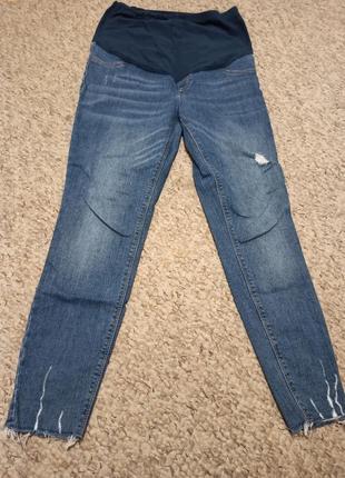 Стрейчевые джинсы скинни для беременных