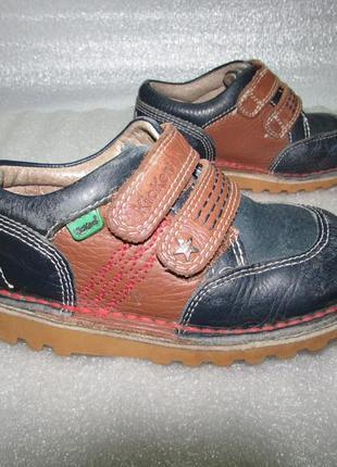 Kickers~полностью кожаные туфли~ р 26 / 16,5 см