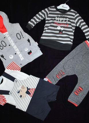 Комплекты лот одежды для мальчика 6-12 мес летний демисезон