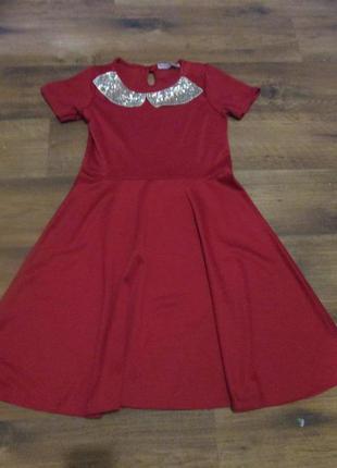 Красное платье из французского трикотажа