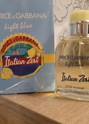 !оригинал!125мл dolce&gabbana light blue italian zest pour homme туалетная вода