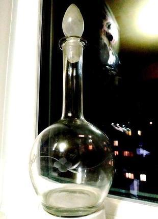 Штоф графин для красивой подачи крепких напитков 🌟 для масла 🌟 750 мл 💖 винтаж