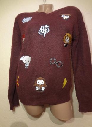 Яркий веселый свитер primark размер xs s