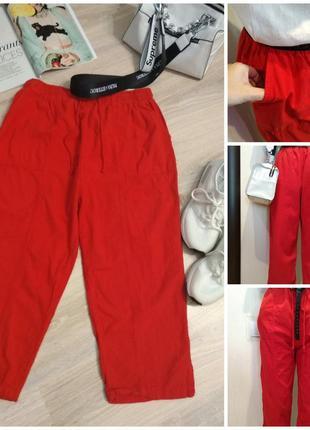 Тонкие лёгкие хлопковые бриджи капри брюки штаны