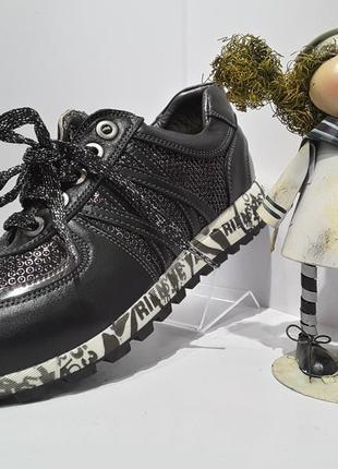Распродажа !!! tiflani кожаные туфли кроссовки для девочки р.33.35,36