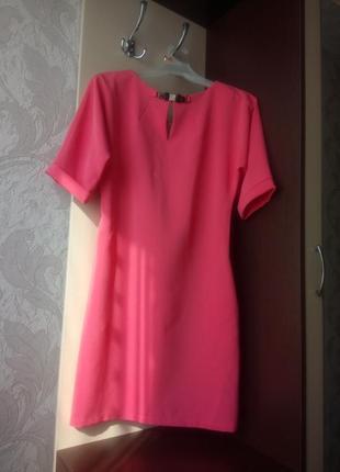 Красивое прямое платье 42 размер # розовое платье 42 размер#
