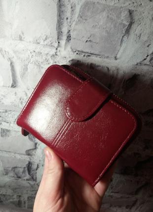Маленький женский кошелек жіночий гаманець шкіряний