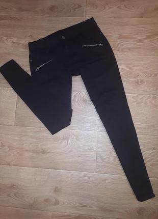 Черные штаны с замочками