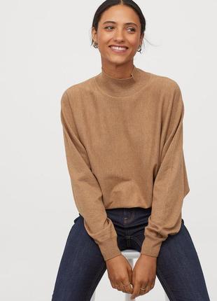 Красивый свитер цвета camel h&m m/l