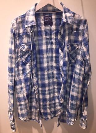 Рубашка в клетку zara клетчатая блуза