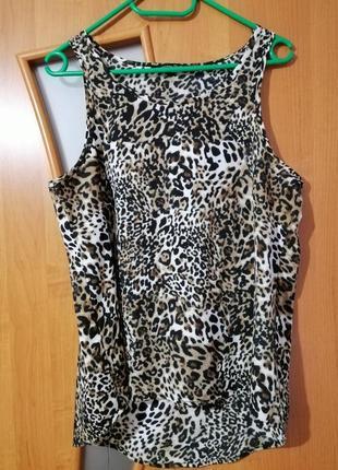 Леопардовая майка, блузка
