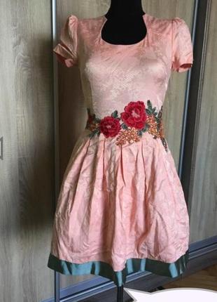 Новое очаровательное нежное платье с вышивкой производства турции!  asos, zara,
