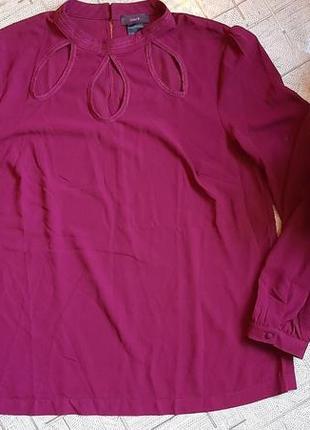 Блузка цвет марсала 52-54размер