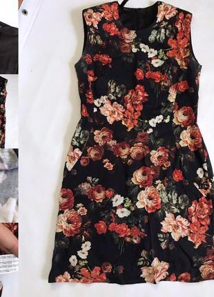 Дорогое платье принт цветочный по талии турция