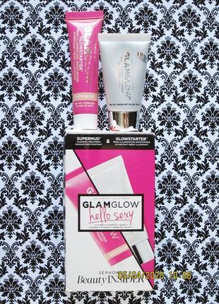 Набор glamglow очищающая маска supermud и крем для сияния glowstarter nude glow