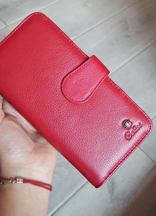 Красный кожаный кошелек balisa